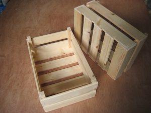 comprar cajas de madera reciclable