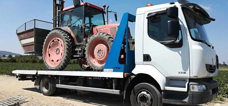 Transporte de maquinaria de gran tamaño